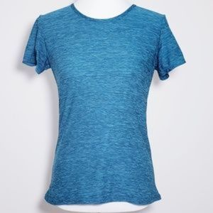 32 DEGREES COOL teal/gray scoop neck tee *small